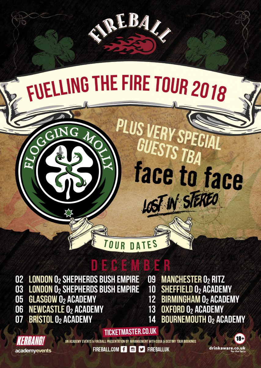 Wall of Sound PR   'Fireball – Fuelling The Fire' Tour 2018